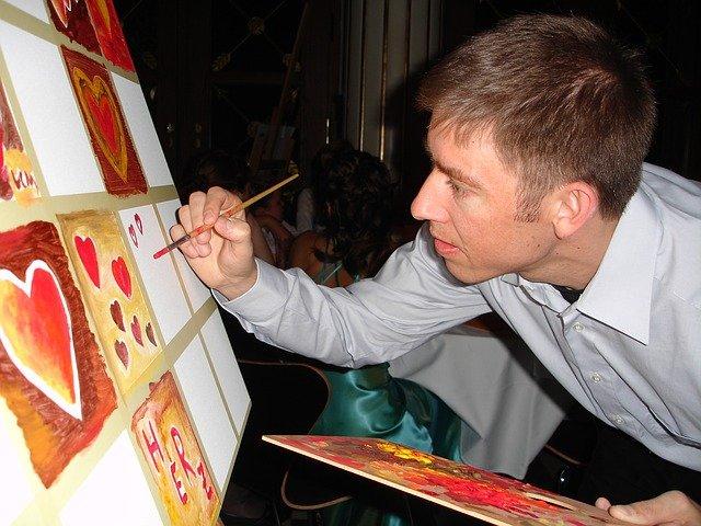 malíř srdíček