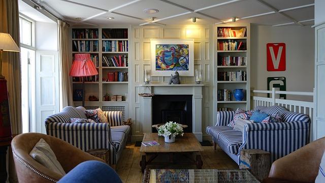 obývací pokoj v retro stylu